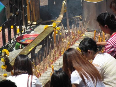 Joss sticks and candles