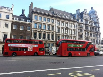 London iconic double decker bus
