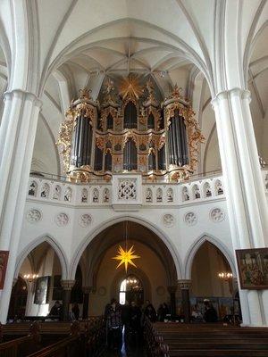 Pipe organs inside Maria church