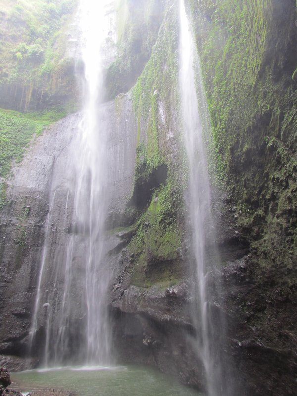 Two waterfalls of Madakaripura waterfall