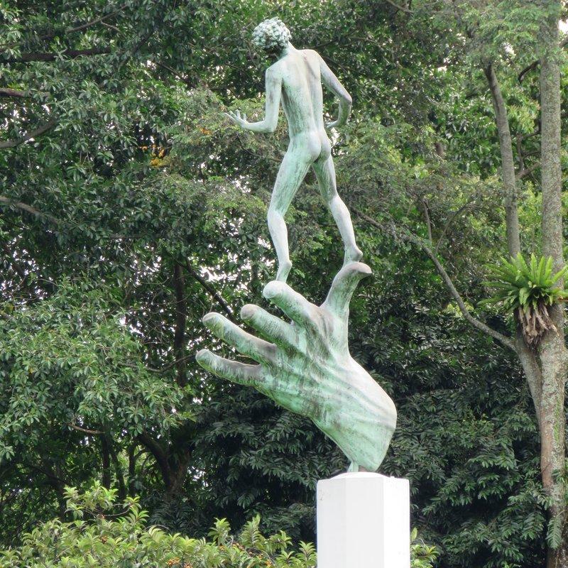 Hand of God statue