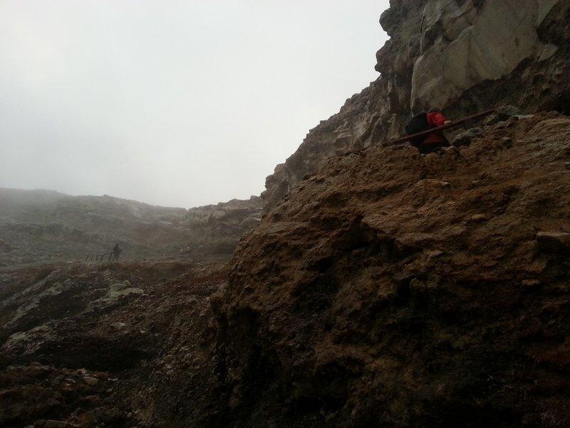 Edge of Ijen crater