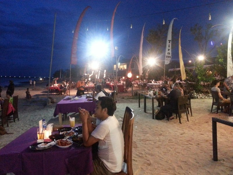 Dinner at Jimbaran Bay