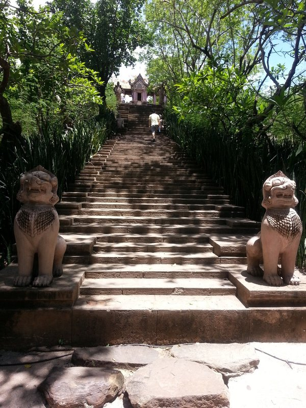 Steps to Preah Vihear Temple