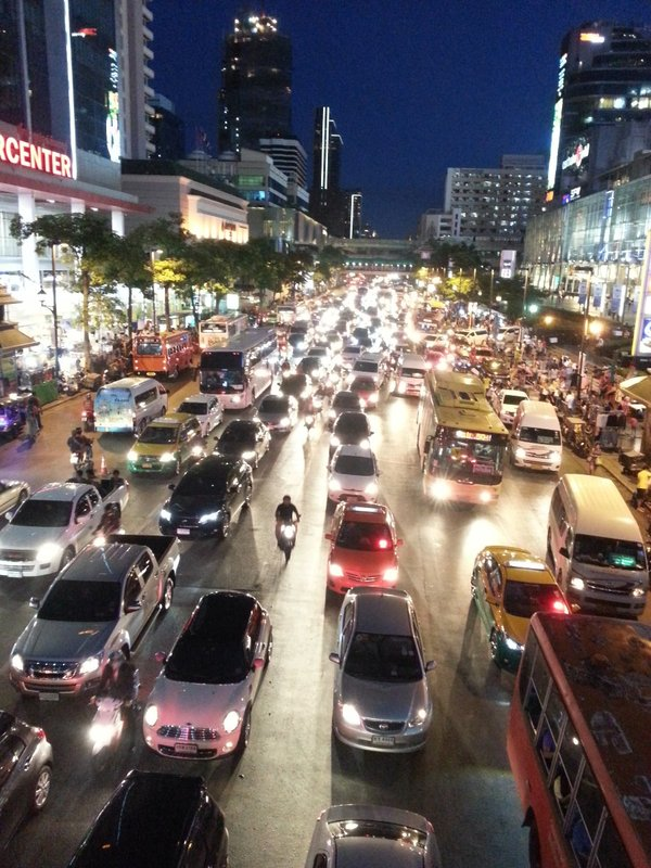 Traffic jam in Bangkok