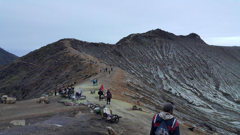 Summit of Ijen volcano