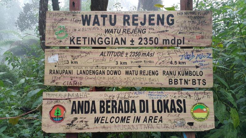 Watu rejeng marking