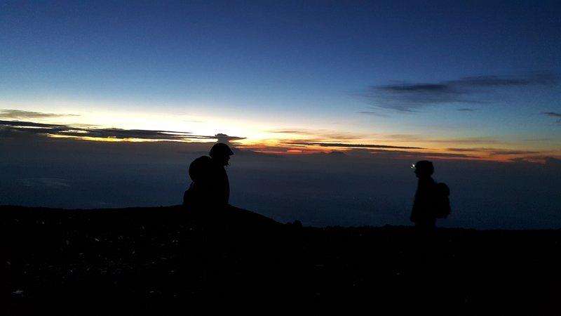 5.14am at summit of Semeru