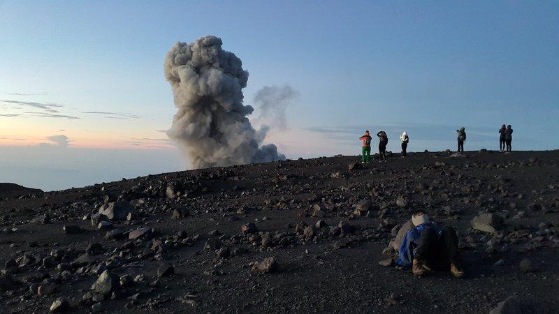 Semeru crater