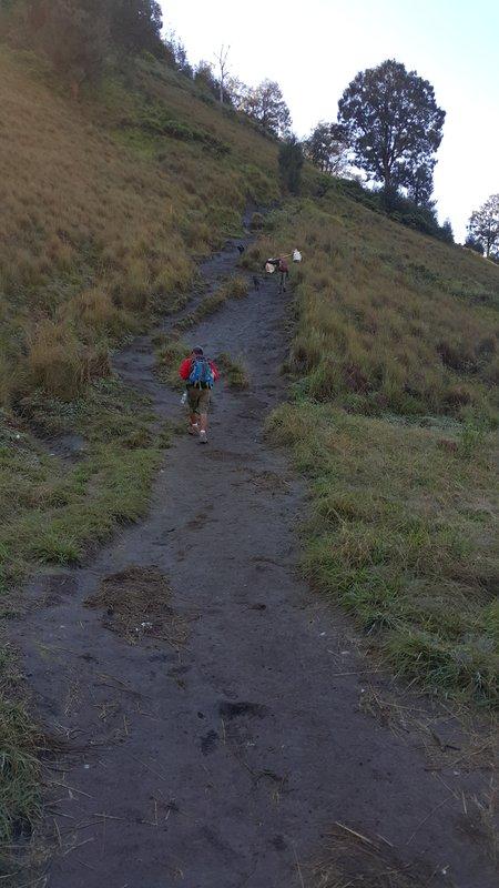 Another steep climb