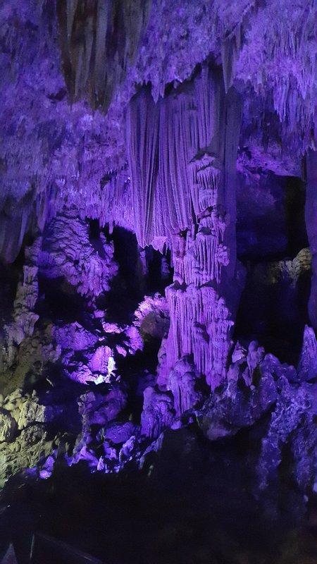 Stalactite and stalagmite