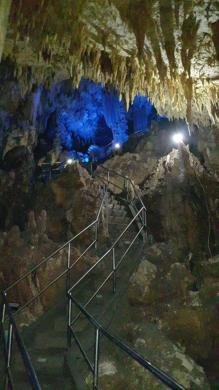 Stalactites and stalagmites