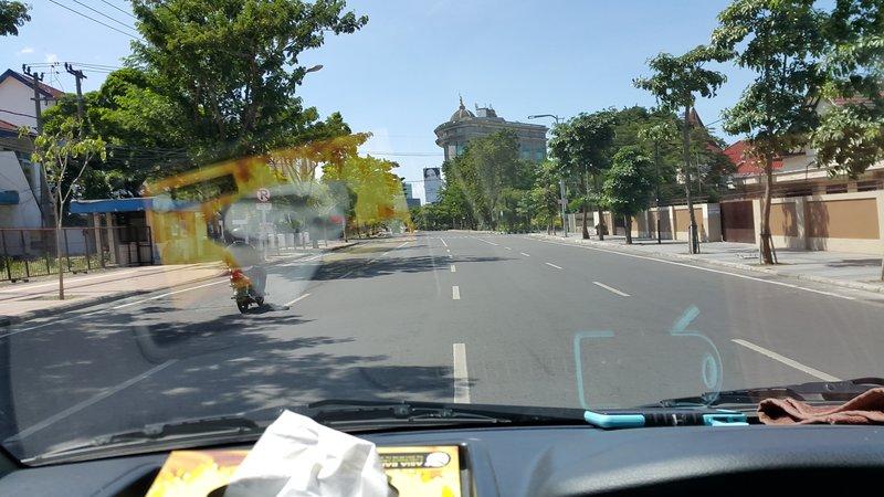 Deserted road in Surabaya