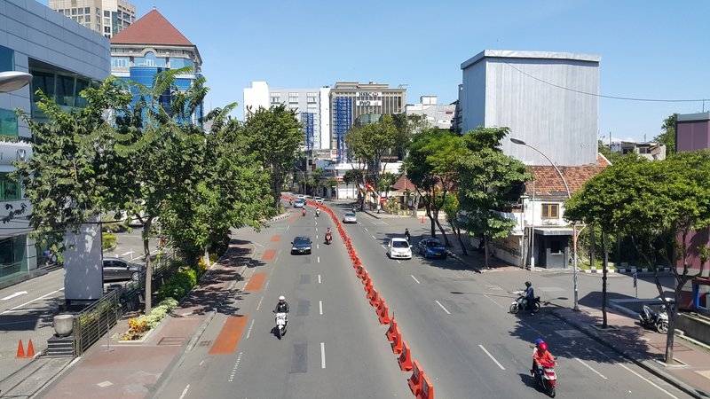 Uncommon sight in Surabaya