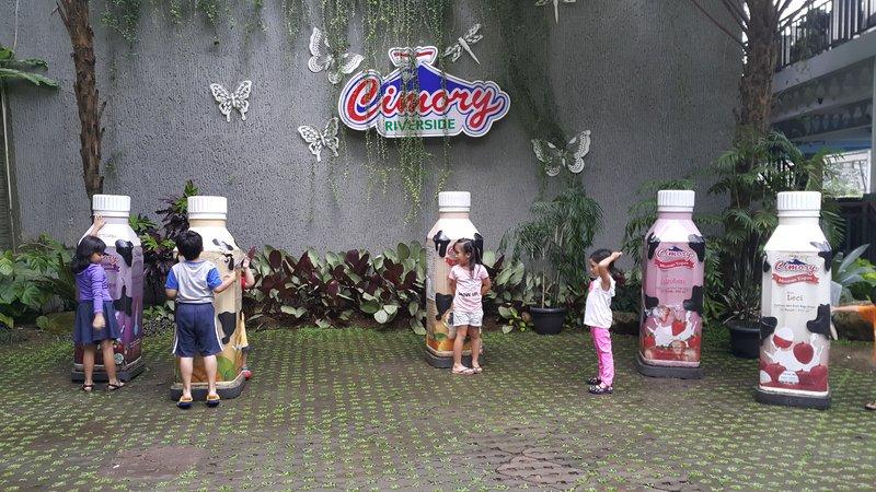 Giant yoghurt bottles