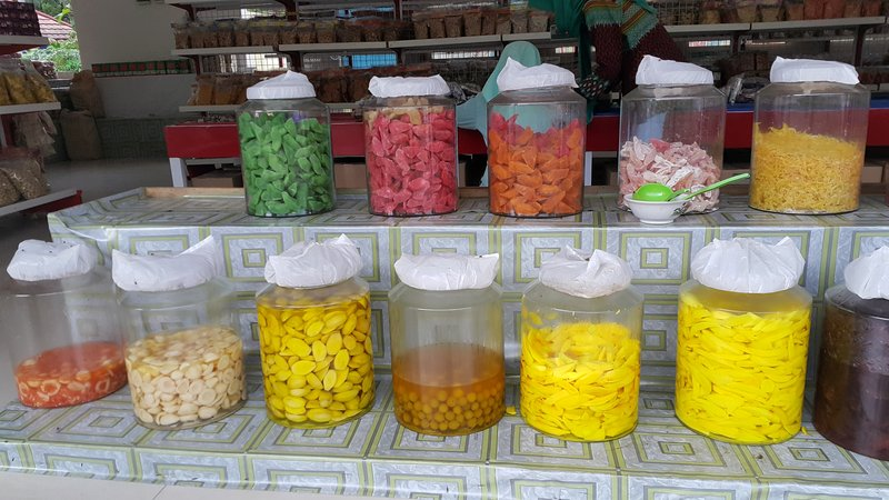 Dried and pickled fruits