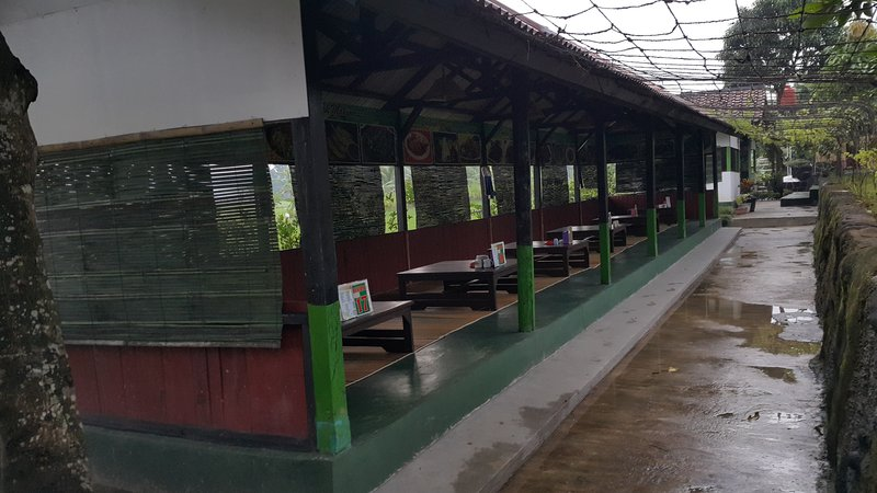 restaurant next to the paddy field