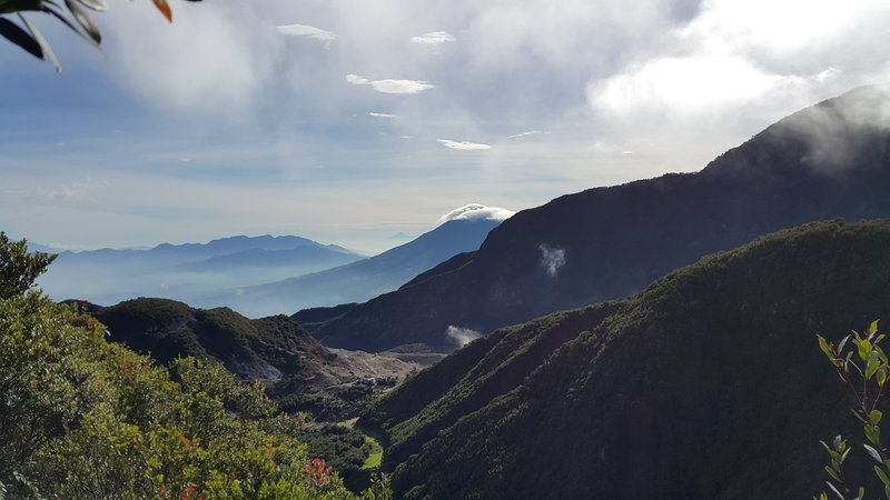 View from mount Papandayan