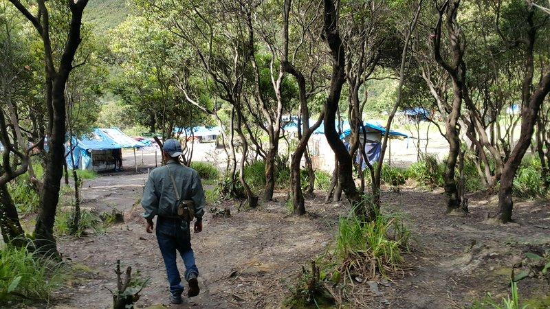 Towards camping ground