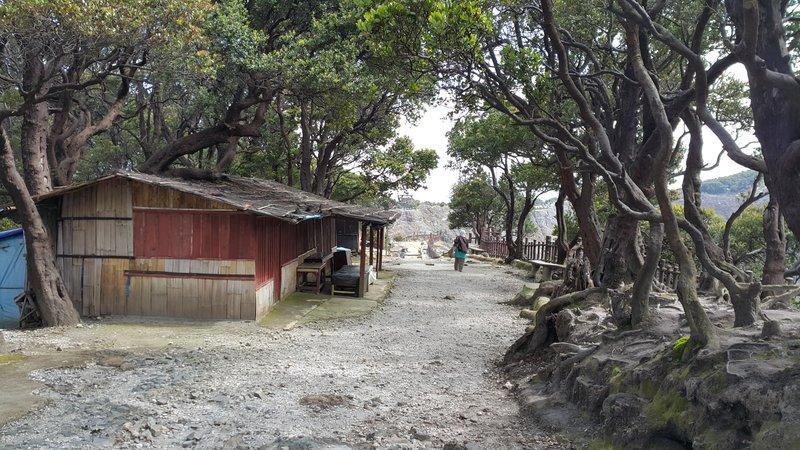 Deserted warungs