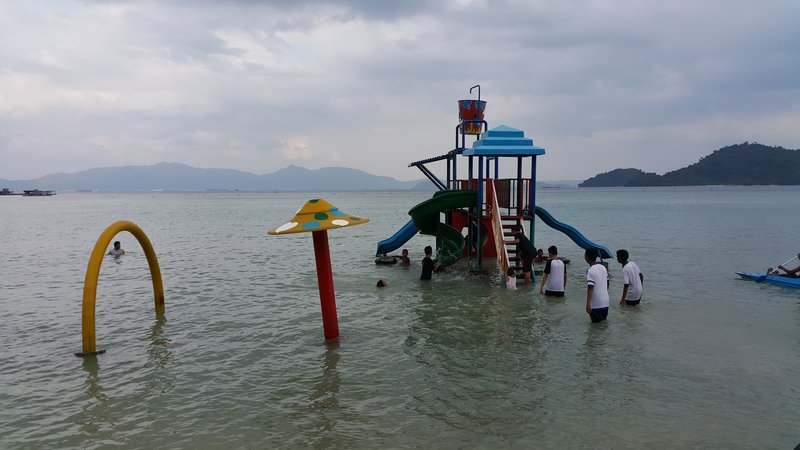 Playground in the water