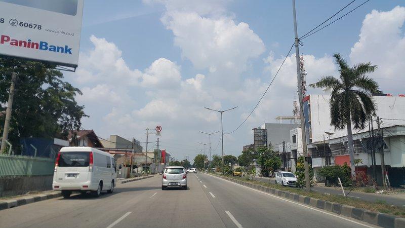 Empty road of Jakarta