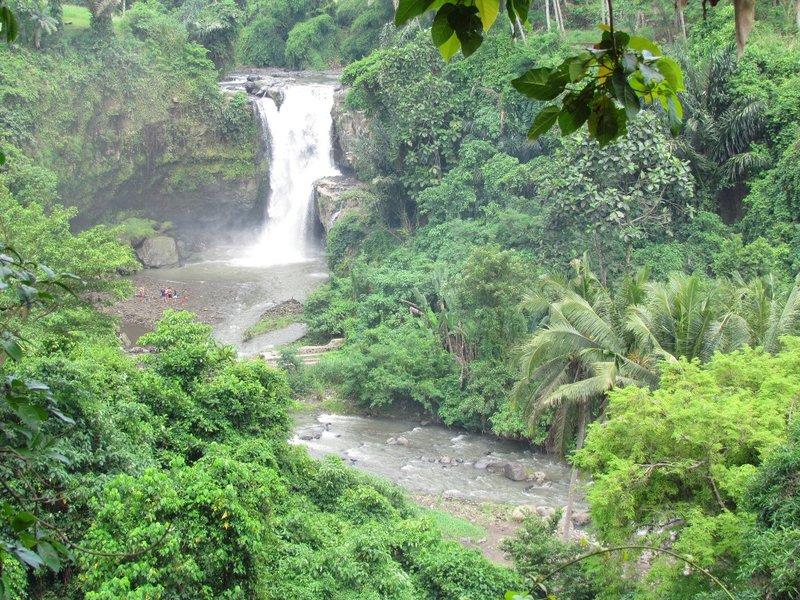 Tenganan waterfall.