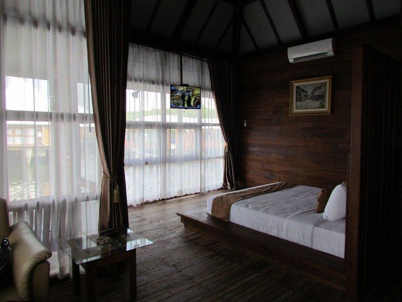 Inside the bungalow suite