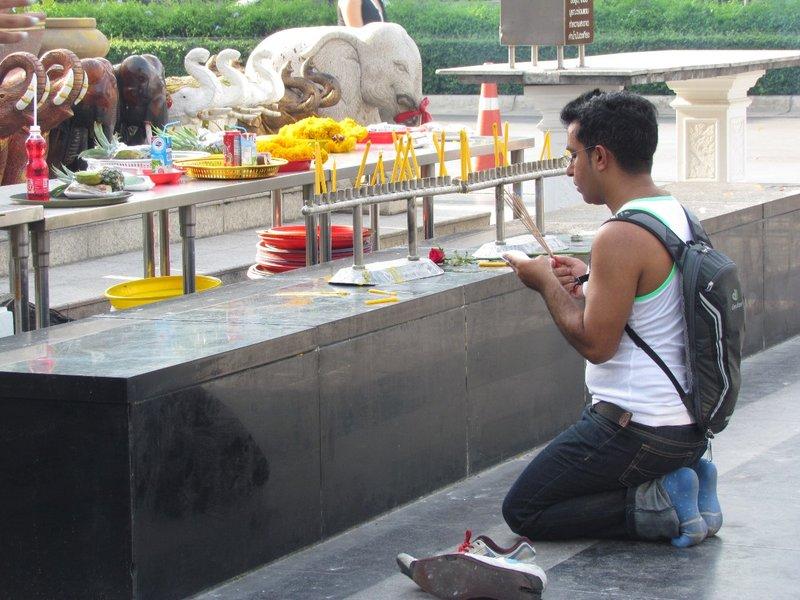 Making a prayer