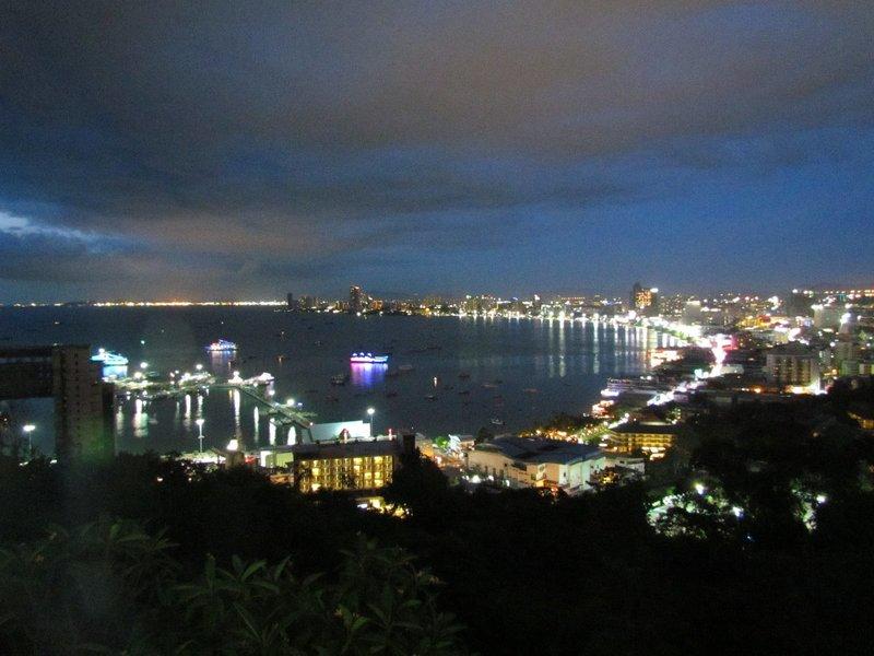 View of Pattaya bay from Pratumnak Hill