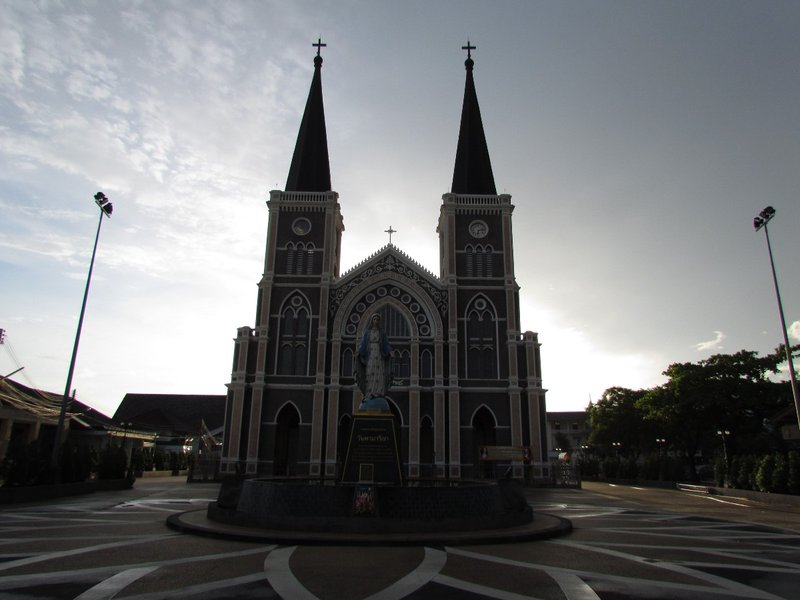 Cathedral of the Immaculate Conception before sunrise