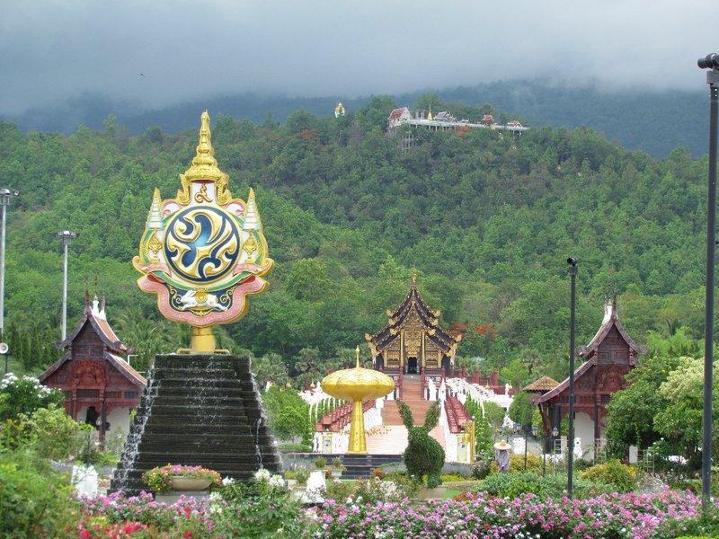 Royal symbol and royal pavilion