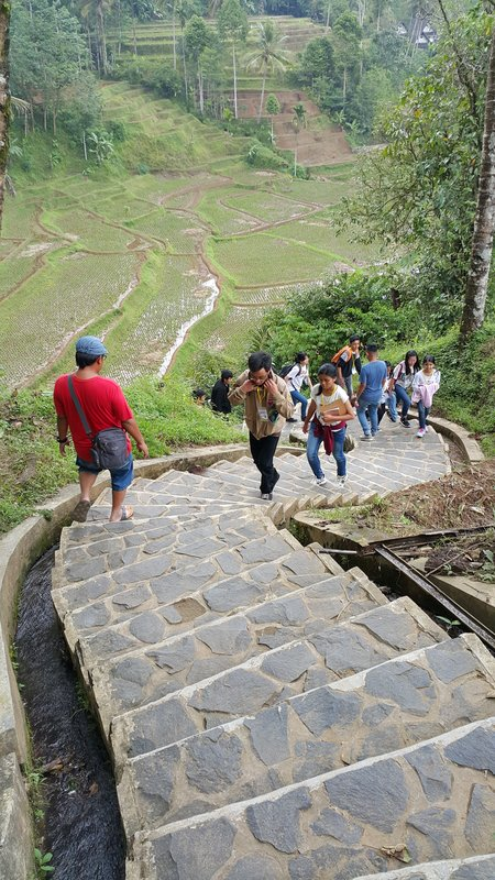 More steps going to Kampong Naga