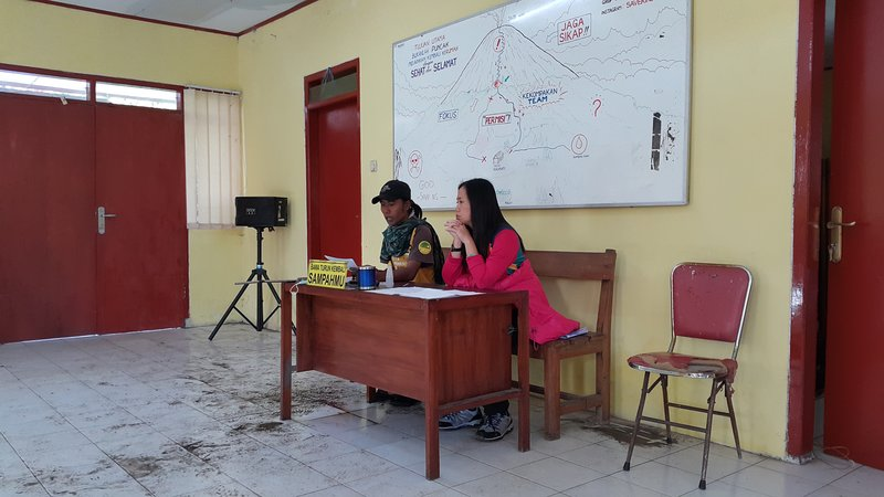 Briefing about safety at Semeru