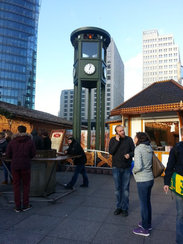 Clock tower in Potsdamer Platz