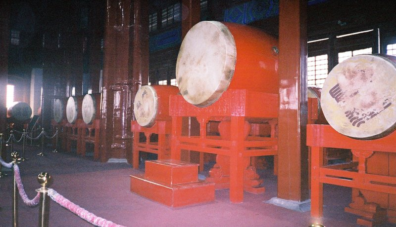 Drums inside the Drum Tower