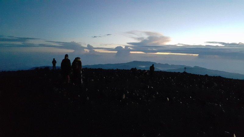 Crack of dawn at Semeru summit
