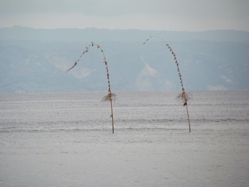 Penjor in the middle of the sea