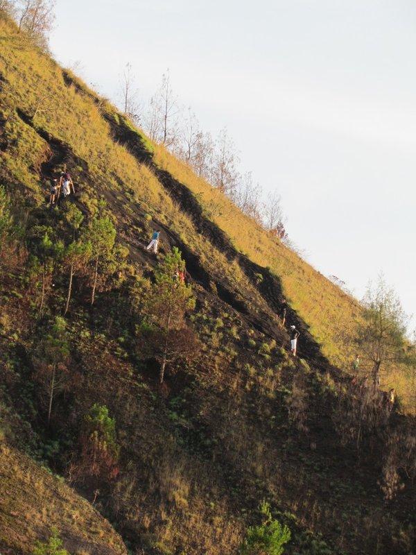 Further up Mount Batur