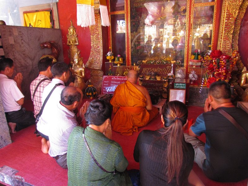 Chanting with the monk