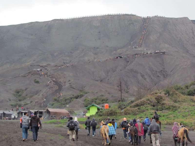 Steepness of mount Bromo