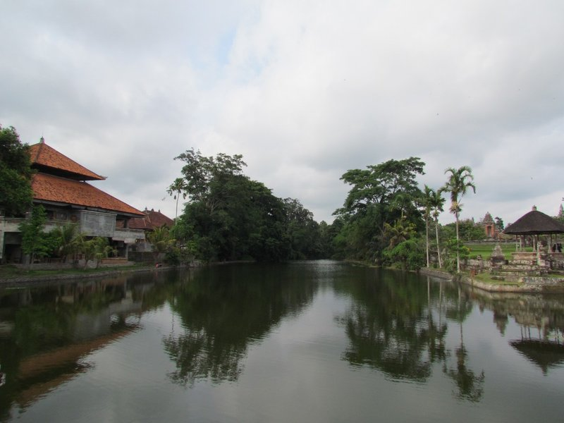Lake next to Pura Taman Ayun
