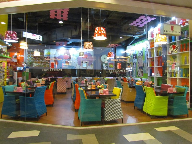 Colourful restaurant
