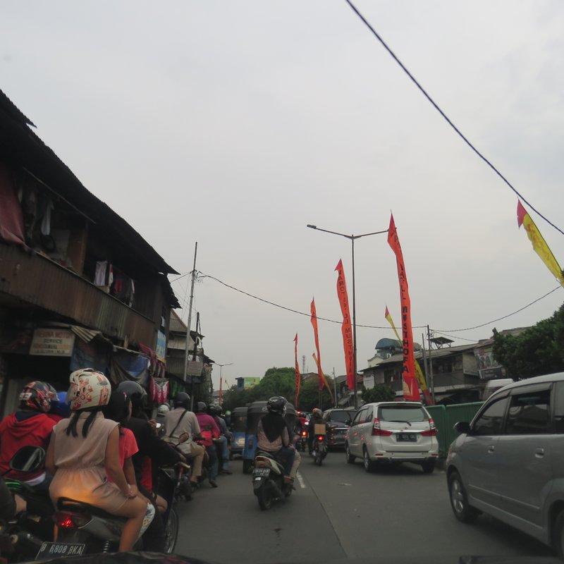 Busy street of Jakarta
