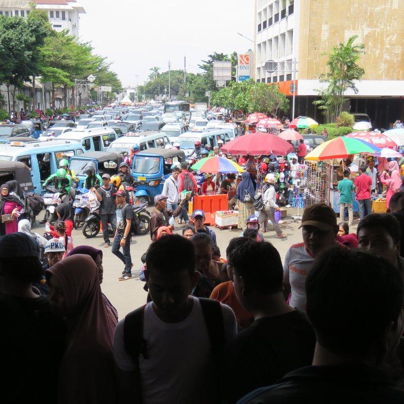View from entrance of Jakartakota Station