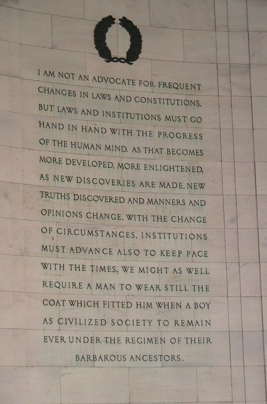 Inside Jefferson Memorial