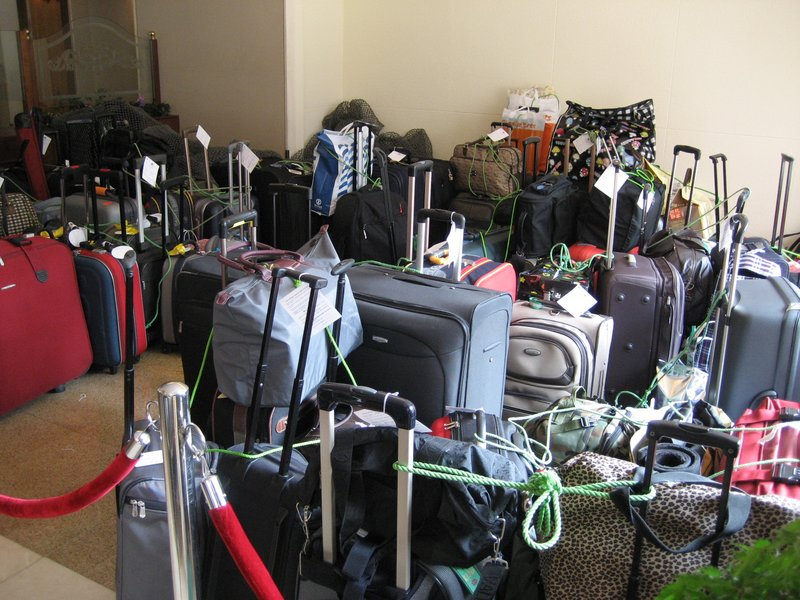 Luggages in storage