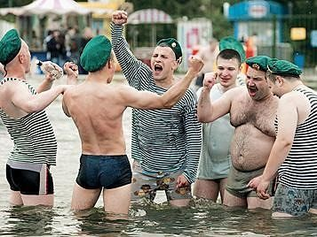 Border guards - high jinks without borders - Moscow