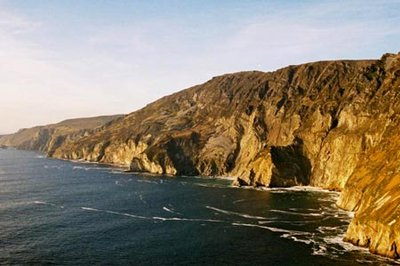 Slieve League is Europe's highest cliff, standing at 306 metres above the ocean. Donegal County