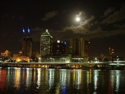 Brisbane River by moonlight
